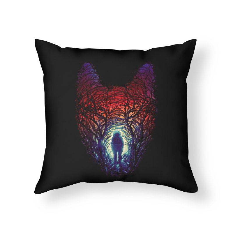 Into The Woods Home Throw Pillow by nicebleed