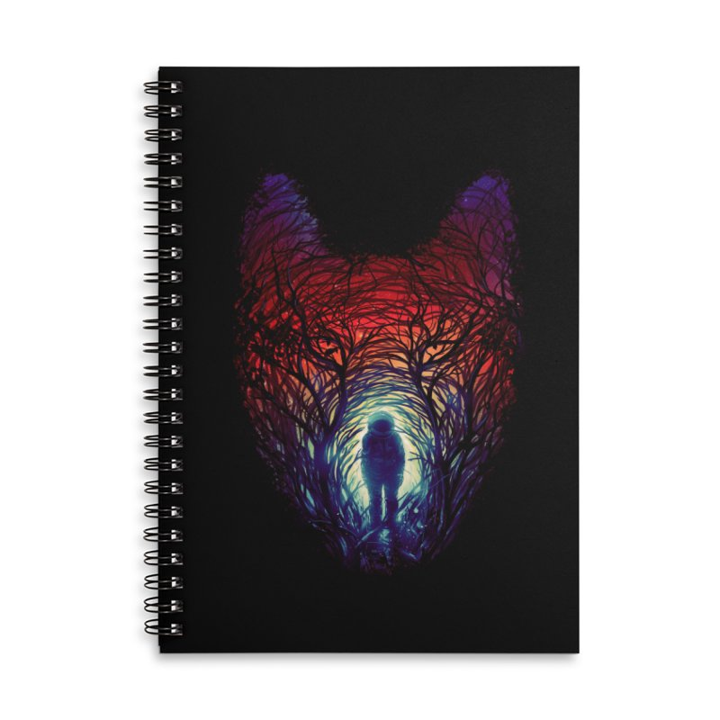 Into The Woods Accessories Lined Spiral Notebook by nicebleed