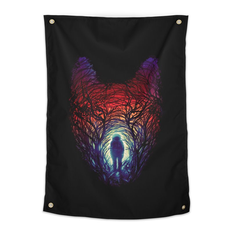 Into The Woods Home Tapestry by nicebleed