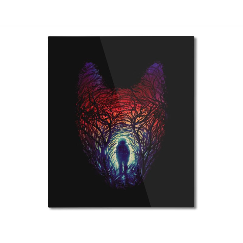 Into The Woods Home Mounted Aluminum Print by nicebleed