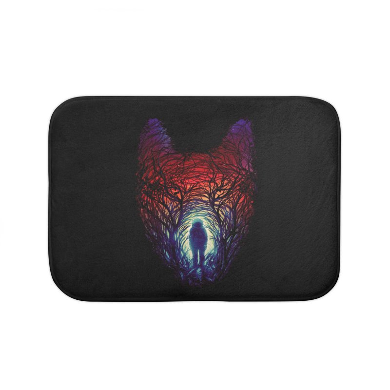 Into The Woods Home Bath Mat by nicebleed