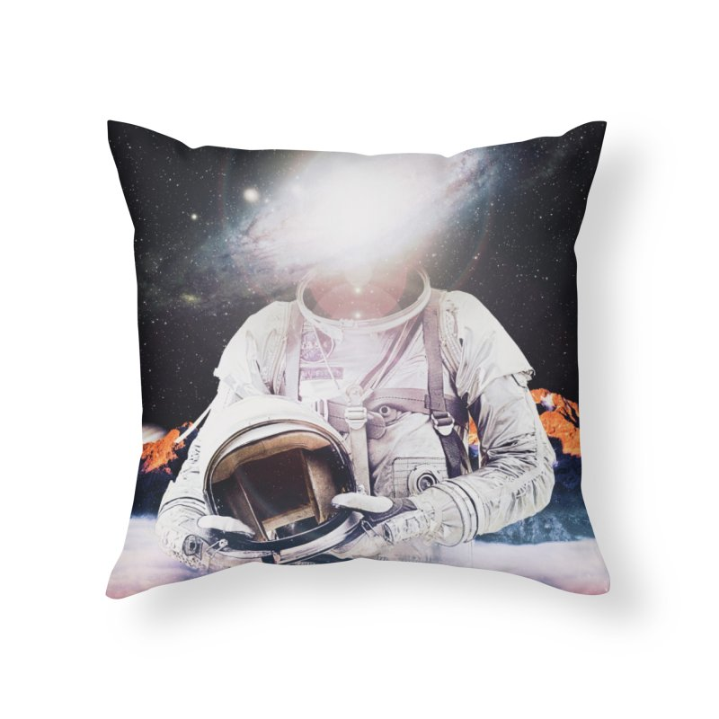 Mr. Galaxy Home Throw Pillow by nicebleed