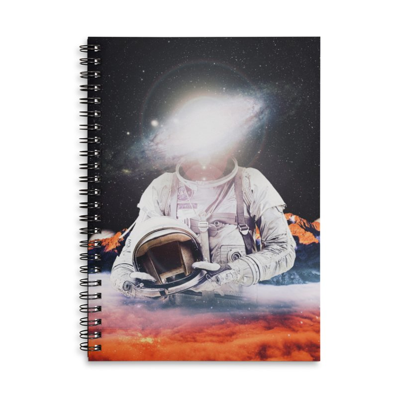 Mr. Galaxy Accessories Lined Spiral Notebook by nicebleed