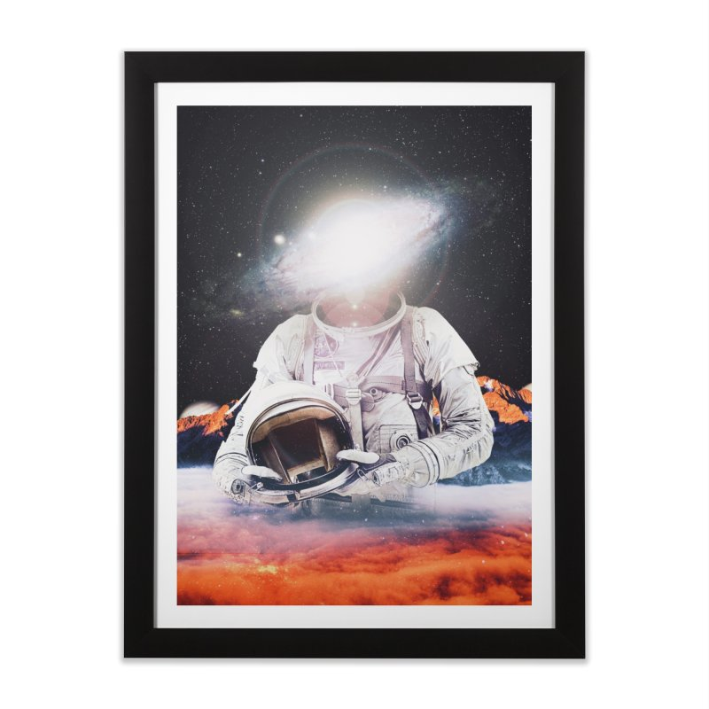 Mr. Galaxy Home Framed Fine Art Print by nicebleed