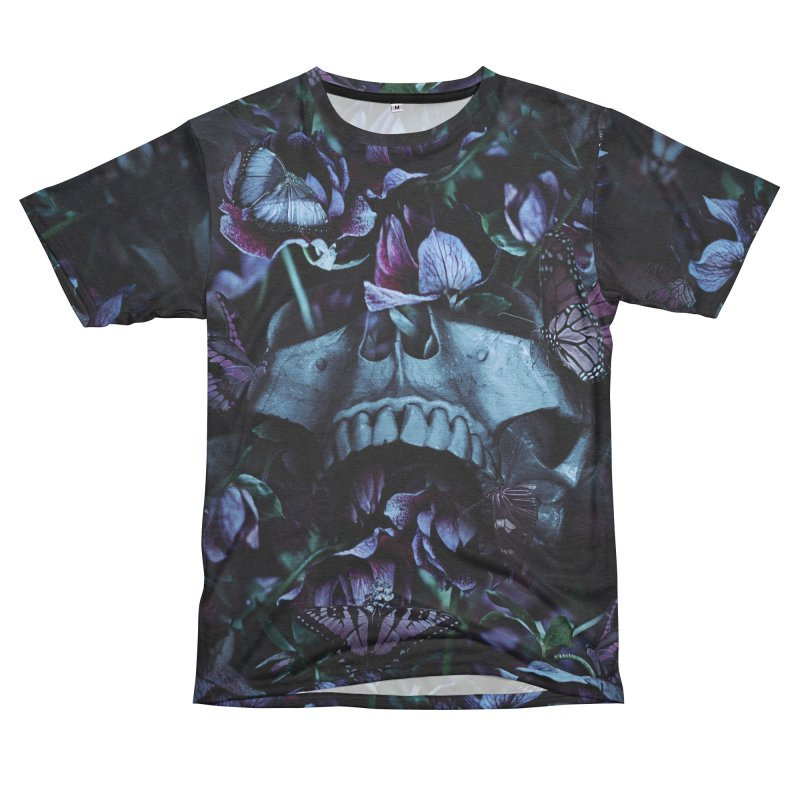Blossom Death Women's Unisex French Terry T-Shirt Cut & Sew by nicebleed