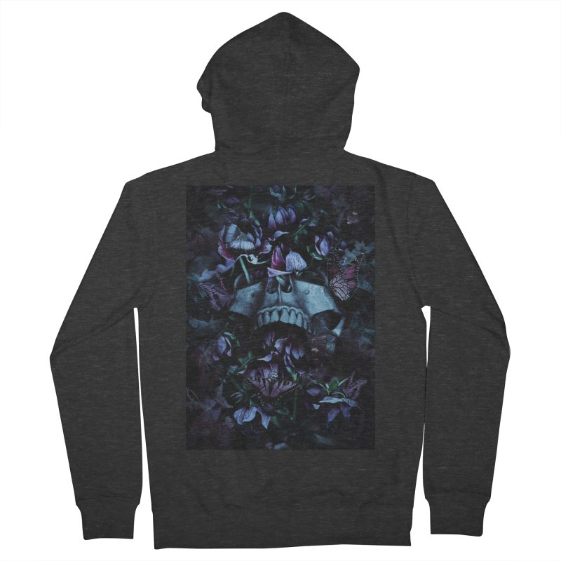 Blossom Death Women's French Terry Zip-Up Hoody by nicebleed