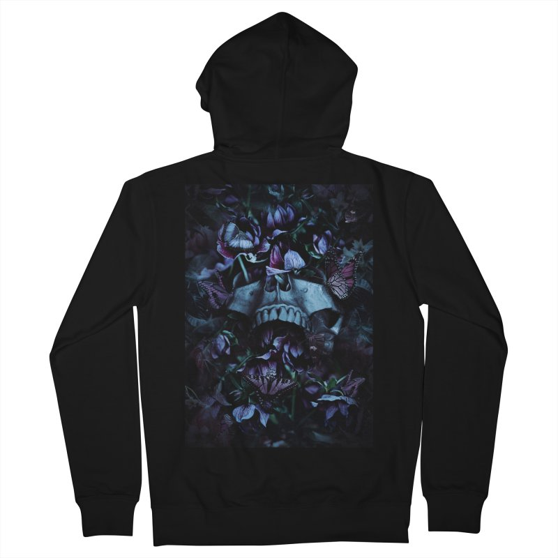 Blossom Death Men's French Terry Zip-Up Hoody by nicebleed