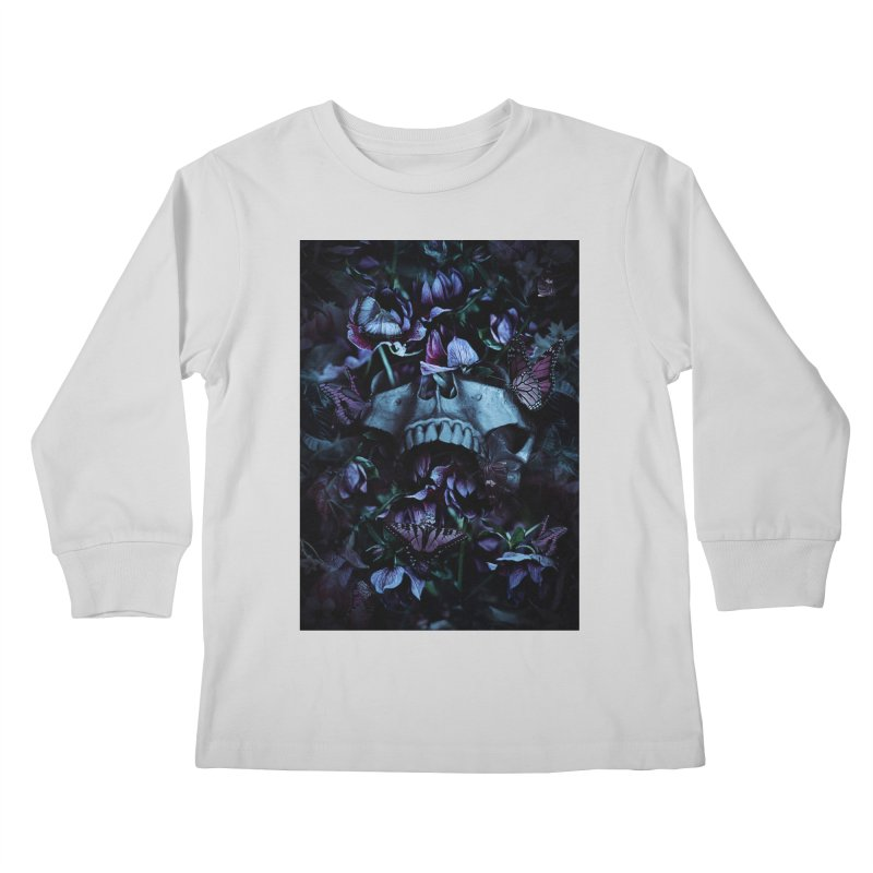 Blossom Death Kids Longsleeve T-Shirt by nicebleed