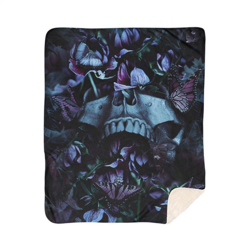 Blossom Death Home Sherpa Blanket Blanket by nicebleed