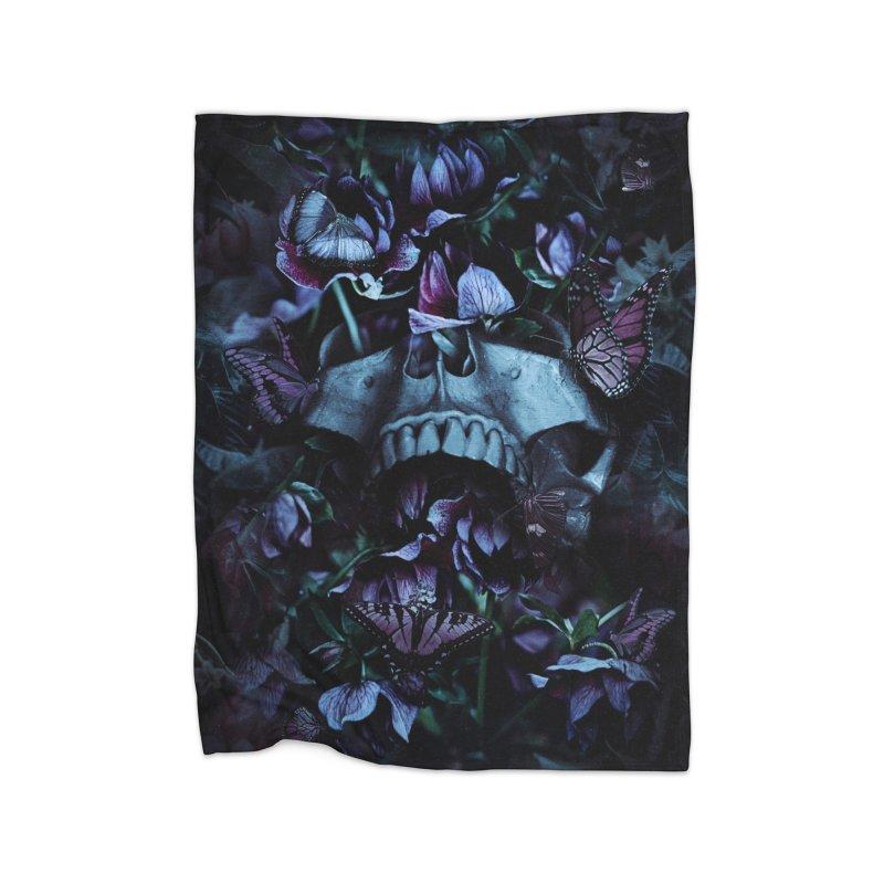 Blossom Death Home Fleece Blanket Blanket by nicebleed