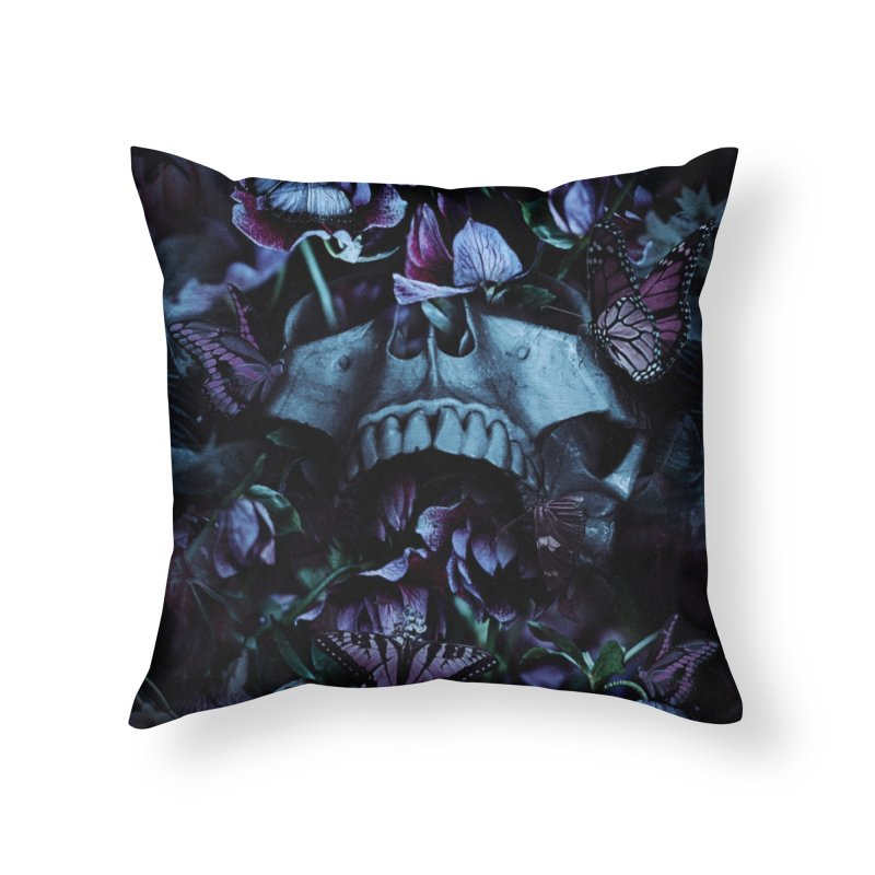 Blossom Death Home Throw Pillow by nicebleed