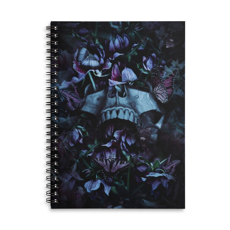 Blossom Death Accessories Lined Spiral Notebook by nicebleed