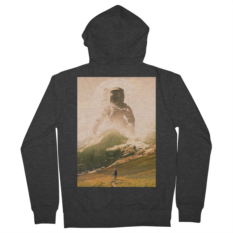 A Visit Men's French Terry Zip-Up Hoody by nicebleed
