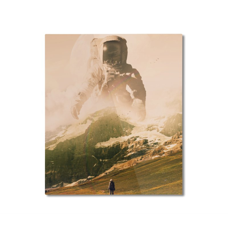 A Visit Home Mounted Aluminum Print by nicebleed