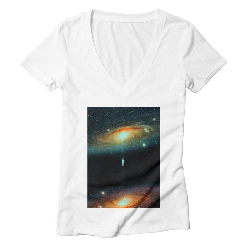 Parallel Universe Women's Deep V-Neck V-Neck by nicebleed