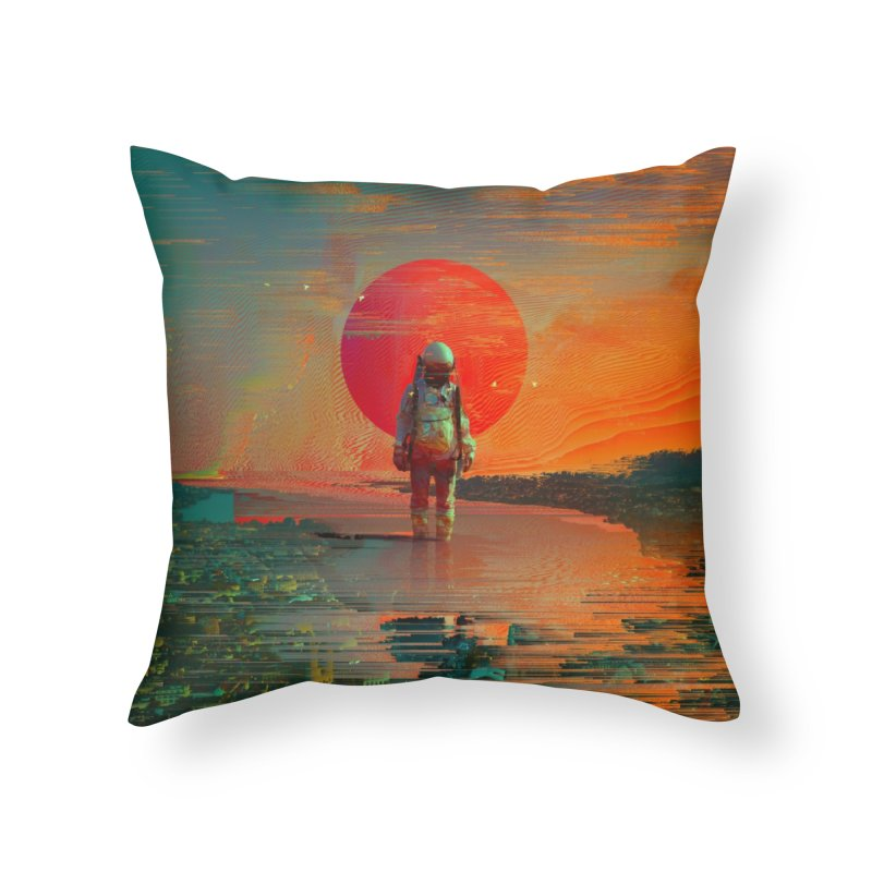 The Blast Home Throw Pillow by nicebleed