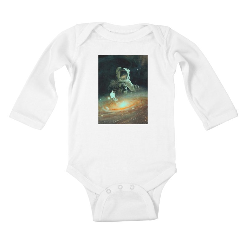 Feeding The Abyss Kids Baby Longsleeve Bodysuit by nicebleed