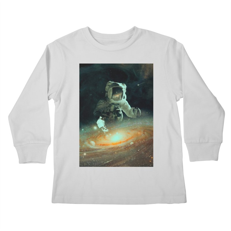 Feeding The Abyss Kids Longsleeve T-Shirt by nicebleed