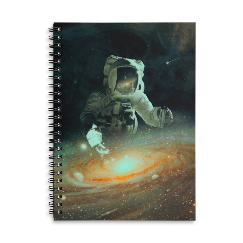 Feeding The Abyss Accessories Lined Spiral Notebook by nicebleed