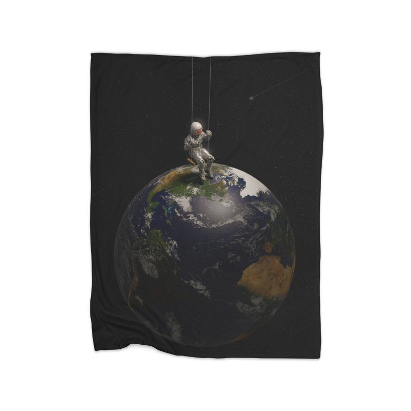 Earth Is My Playground Home Blanket by nicebleed