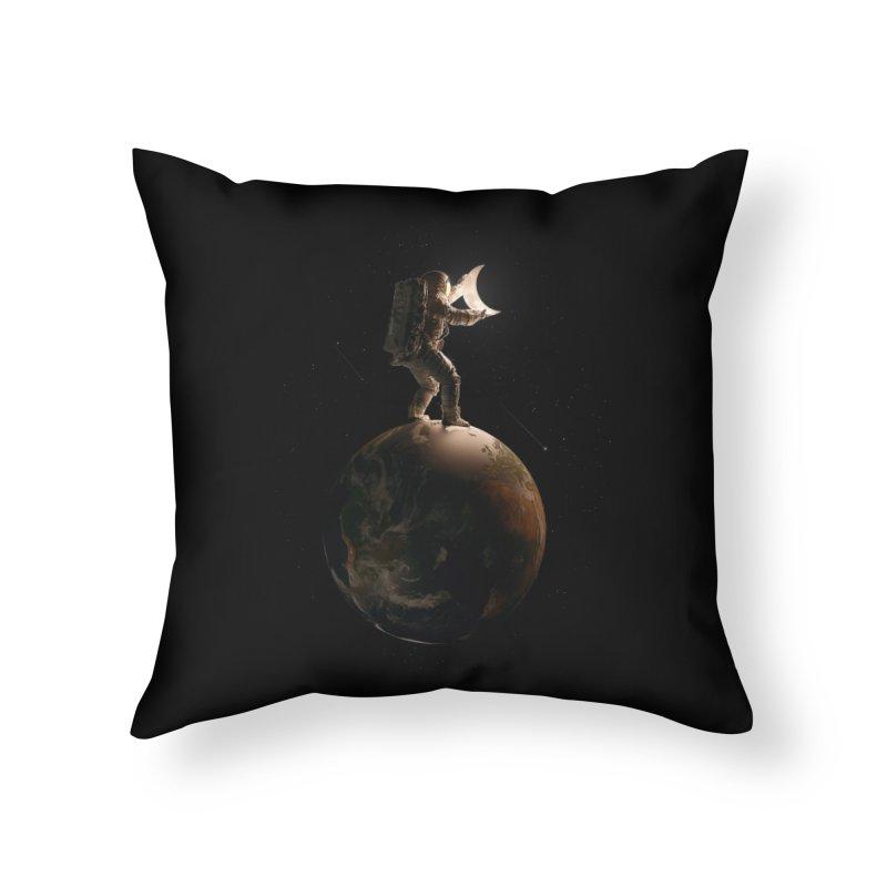 Lunar Home Throw Pillow by nicebleed