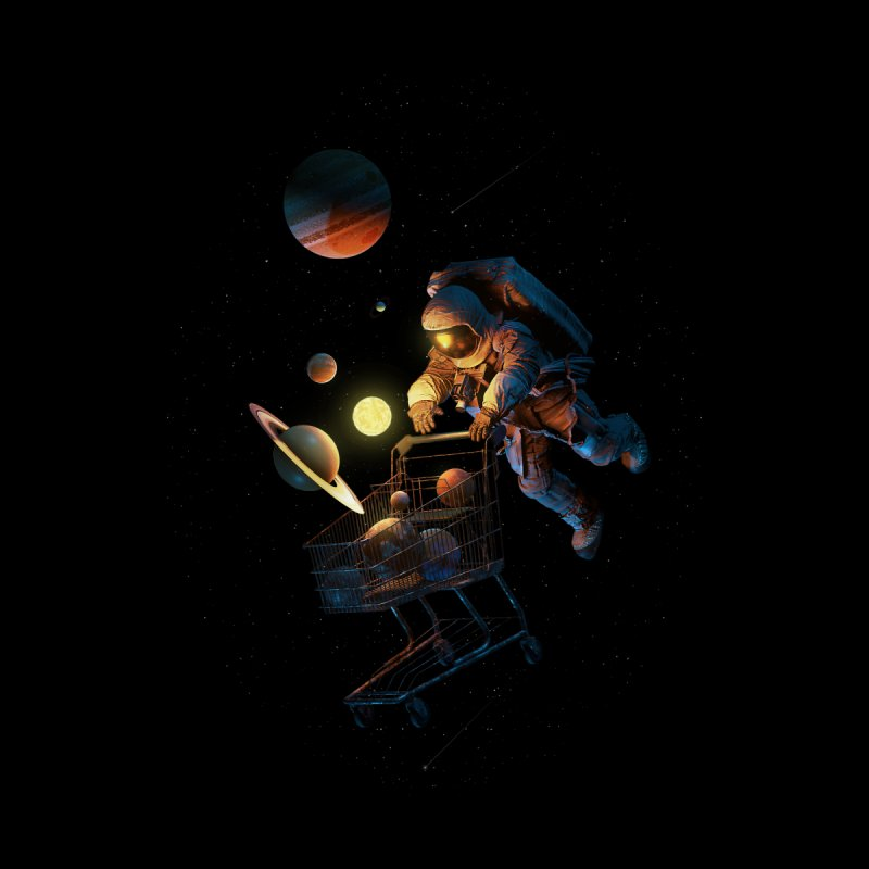 Space Cart Women's T-Shirt by nicebleed