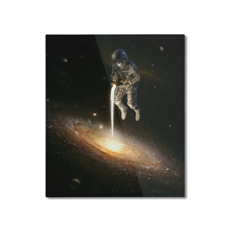 The Milky Way Home Mounted Aluminum Print by nicebleed