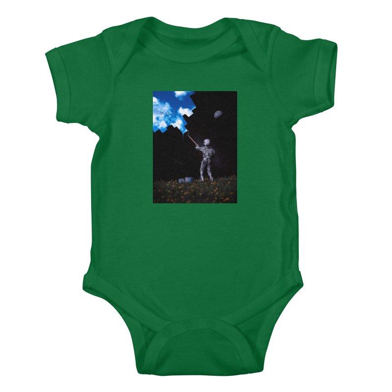Hello Blue Sky Kids Baby Bodysuit by nicebleed