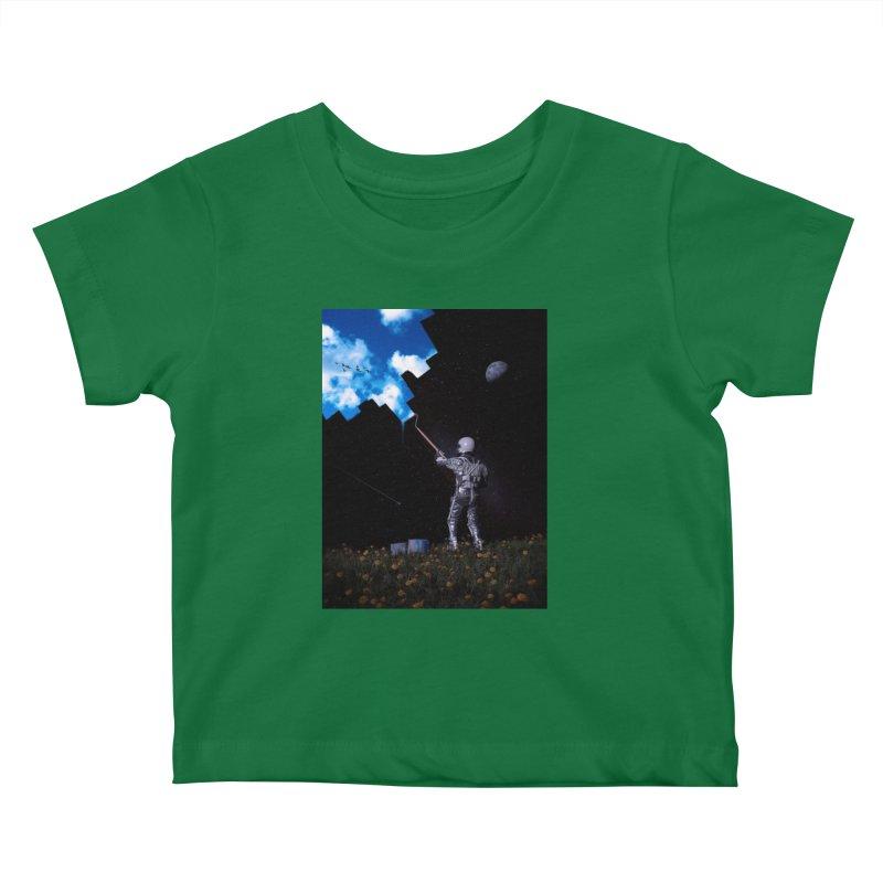 Hello Blue Sky Kids Baby T-Shirt by nicebleed