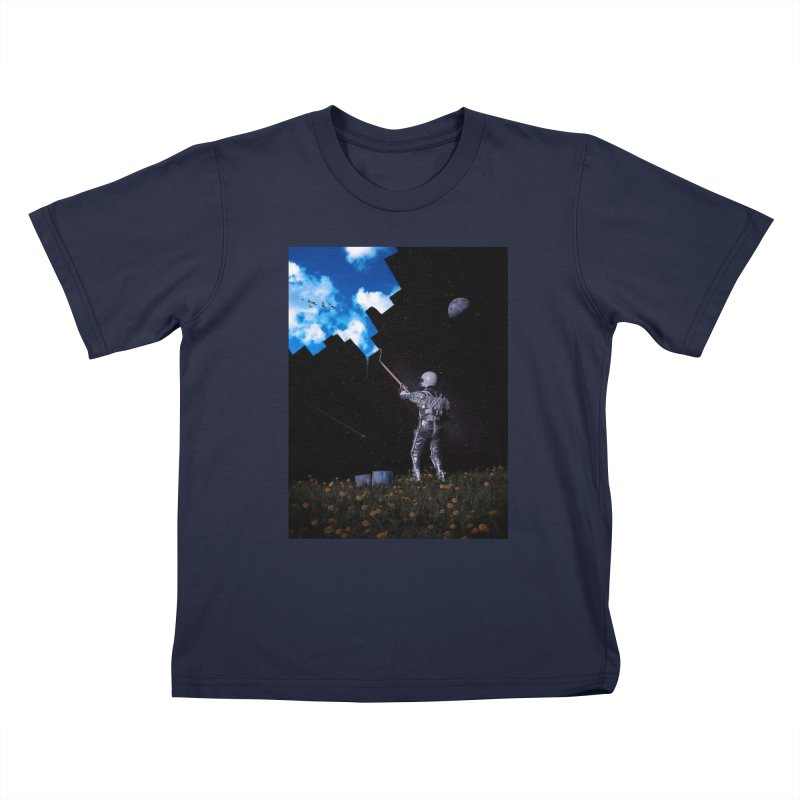 Hello Blue Sky Kids T-Shirt by nicebleed