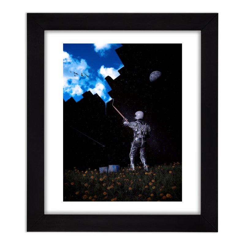 Hello Blue Sky Home Framed Fine Art Print by nicebleed