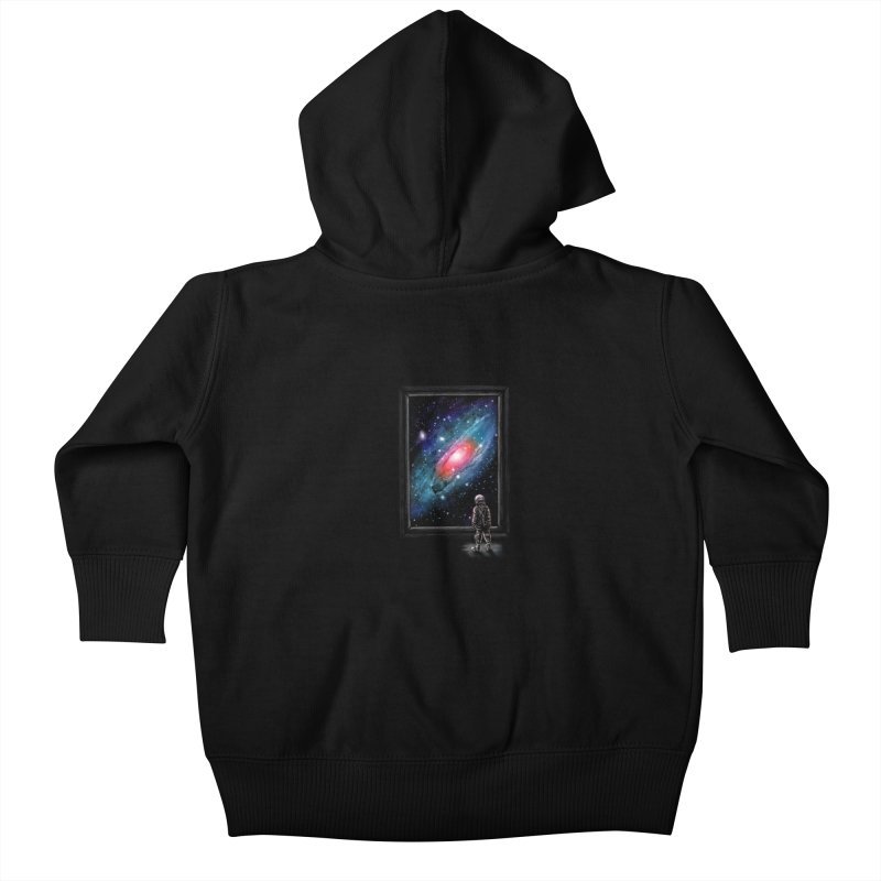 Looking Through A Masterpiece Kids Baby Zip-Up Hoody by nicebleed