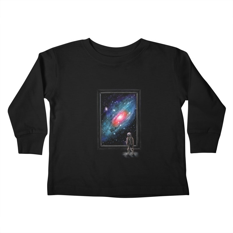 Looking Through A Masterpiece Kids Toddler Longsleeve T-Shirt by nicebleed