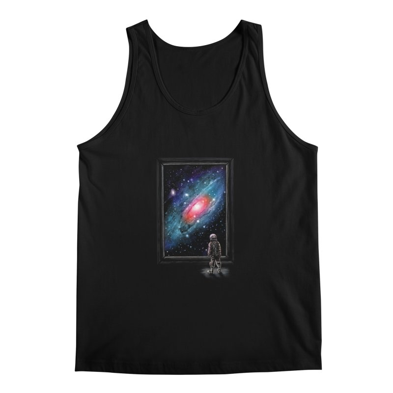 Looking Through A Masterpiece Men's Tank by nicebleed
