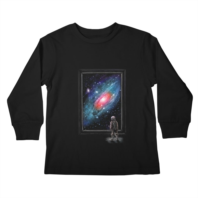Looking Through A Masterpiece Kids Longsleeve T-Shirt by nicebleed