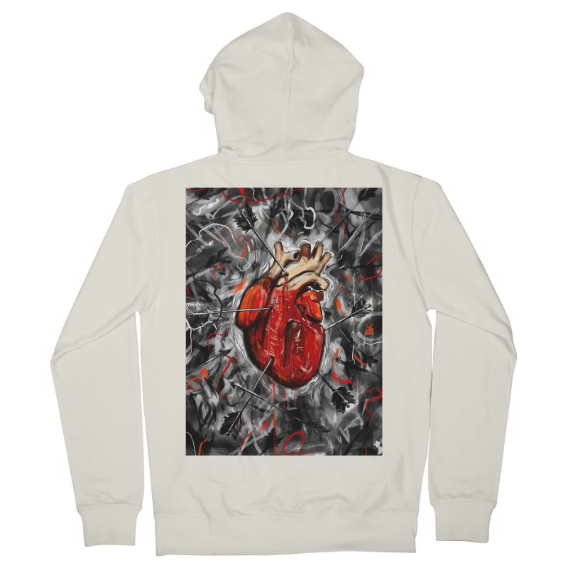 Heart & Arrows Men's Zip-Up Hoody by nicebleed