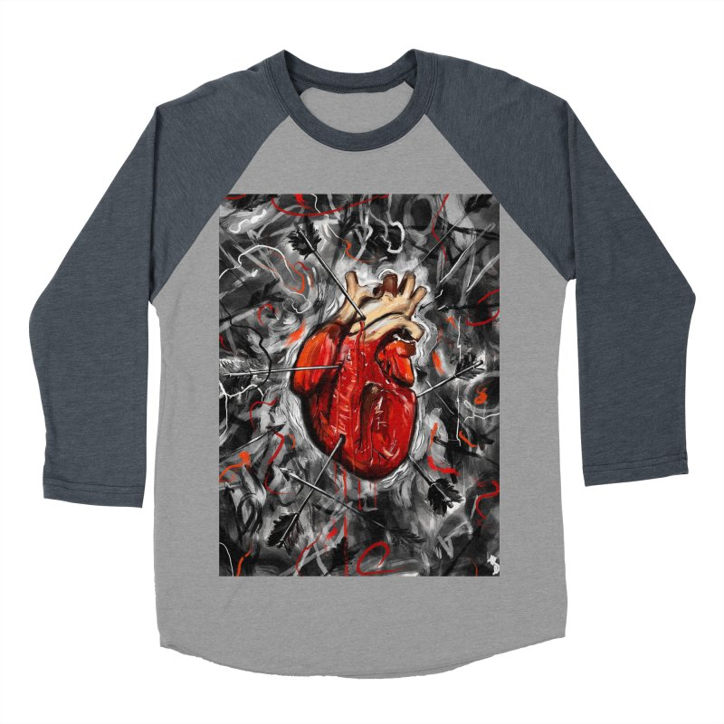 Heart & Arrows Men's Baseball Triblend T-Shirt by nicebleed