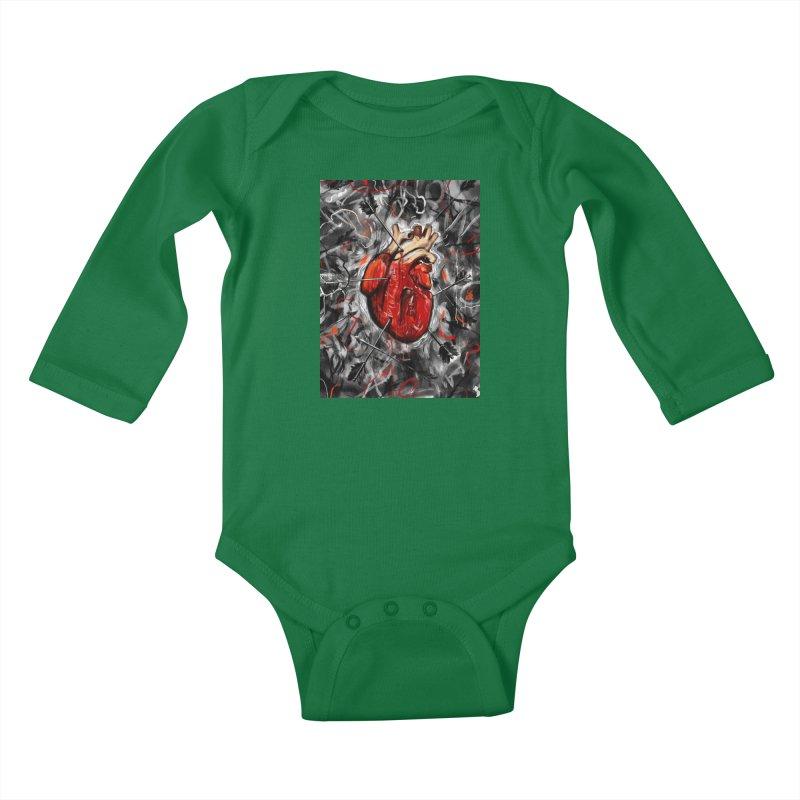 Heart & Arrows Kids Baby Longsleeve Bodysuit by nicebleed