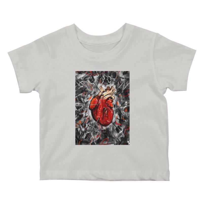 Heart & Arrows Kids Baby T-Shirt by nicebleed