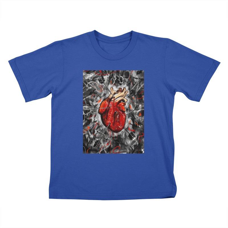 Heart & Arrows Kids T-shirt by nicebleed