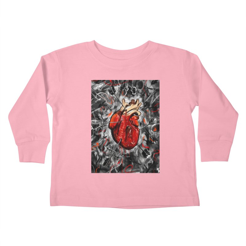 Heart & Arrows Kids Toddler Longsleeve T-Shirt by nicebleed