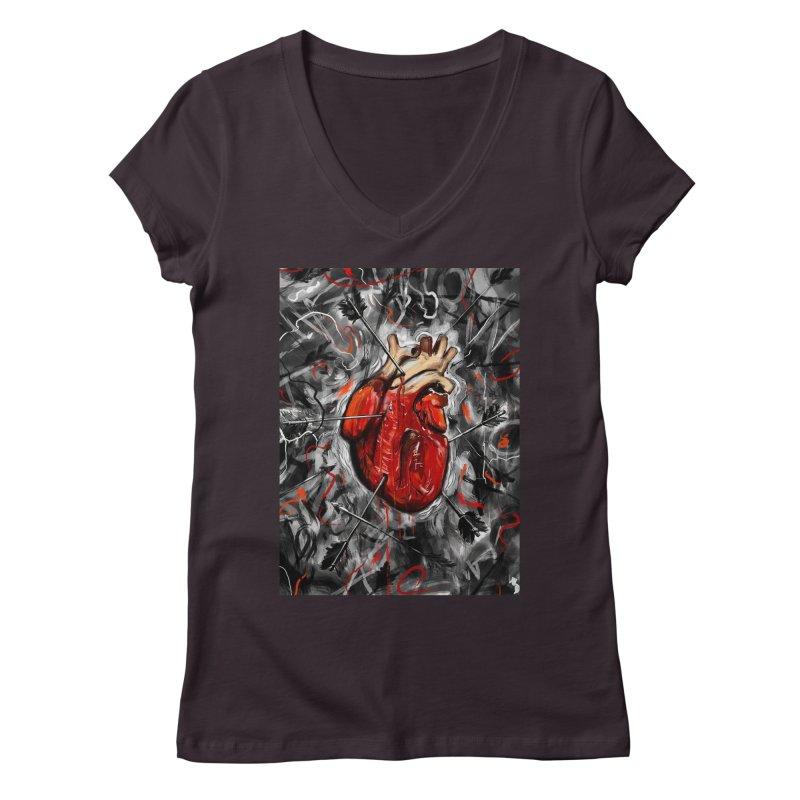 Heart & Arrows Women's V-Neck by nicebleed