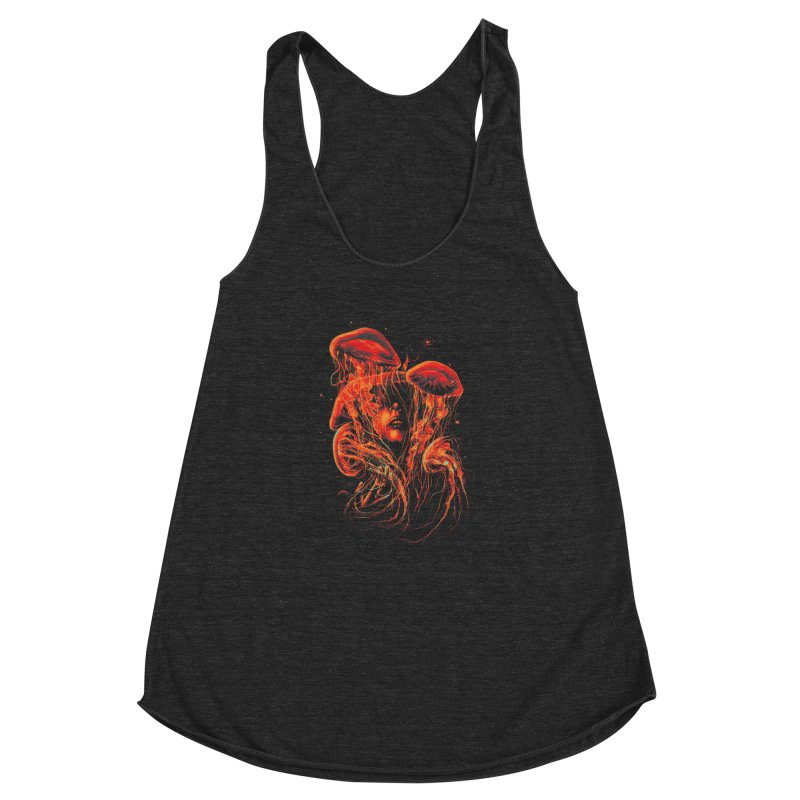 A Beautiful Delusion Women's Racerback Triblend Tank by nicebleed