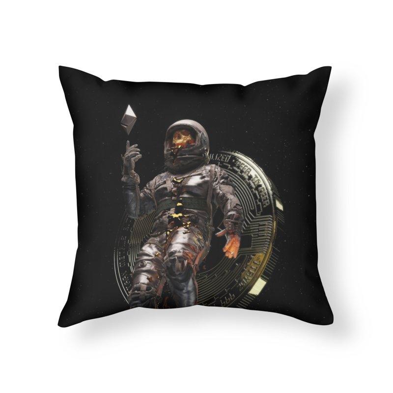 Cryptonaut Home Throw Pillow by nicebleed