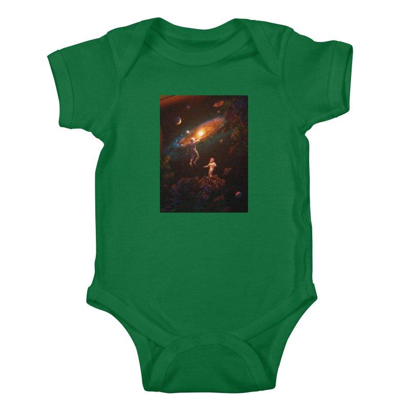 Follow The Light Kids Baby Bodysuit by nicebleed