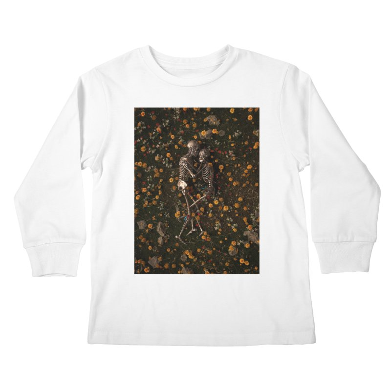 Memento Mori Kids Longsleeve T-Shirt by nicebleed