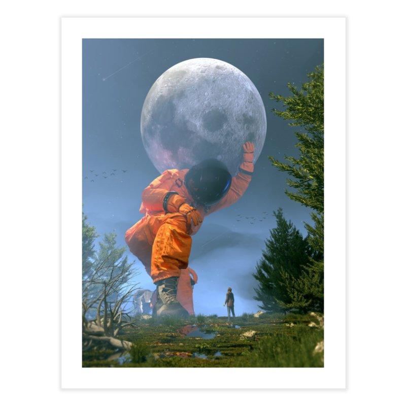 Lunar Dreams Home Fine Art Print by nicebleed