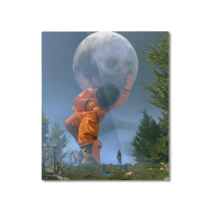 Lunar Dreams Home Mounted Aluminum Print by nicebleed