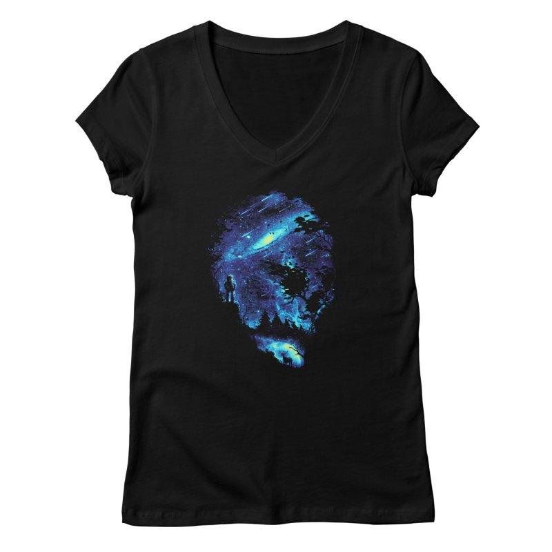 Cosmic Revelation Women's V-Neck by nicebleed