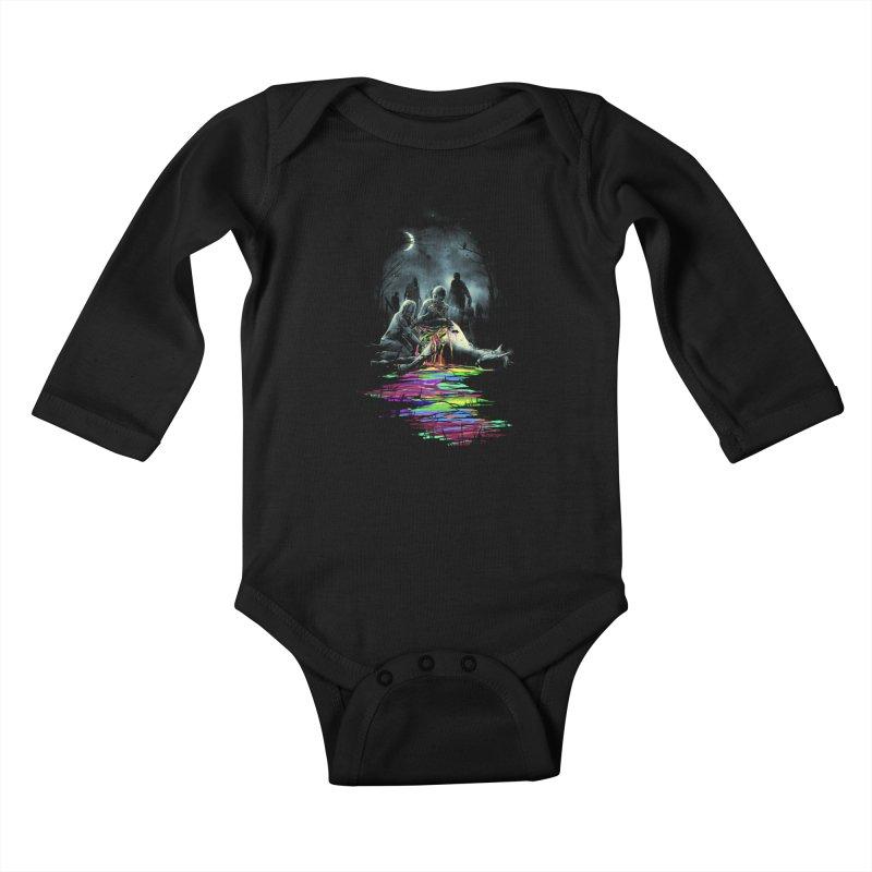 Midnight Snack Kids Baby Longsleeve Bodysuit by nicebleed